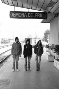 "Mercenary God (Duilio Pontelli, Edi ""Kermit"" Toffoli, Louis Armato) - Gemona del Friuli (UD) 1980 (foto Franco D'Orlando)"