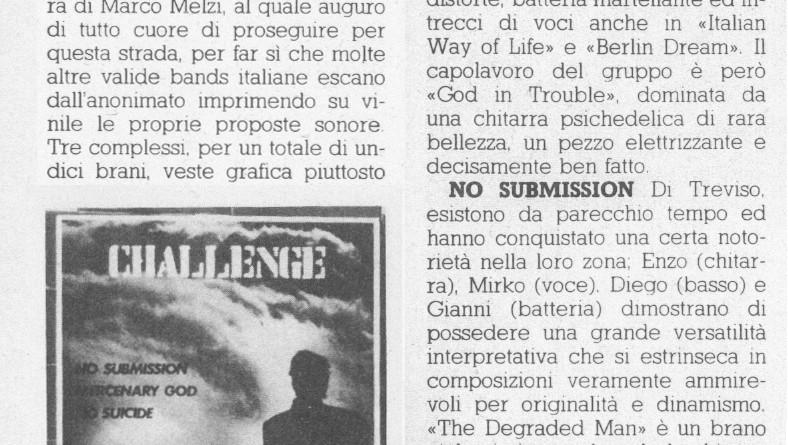 ottobre 1981 - IL  MUCCHIO SELVAGGIO - Articolo di Federico Guglielmi