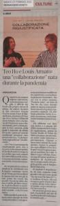 27 febbraio 2021 - MESSAGGERO VENETO - articolo di Anna Dazzan