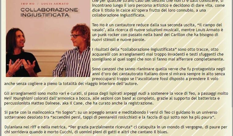 14 aprile 2021 - MUSIC MAP - recensione di Lorenzo Montefreddo