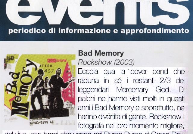giugno-luglio 2003 - EVENTS - Articolo di Piero Cargnelutti