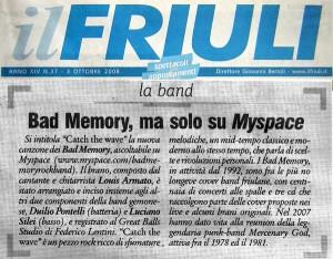3 ottobre 2008 - IL FRIULI