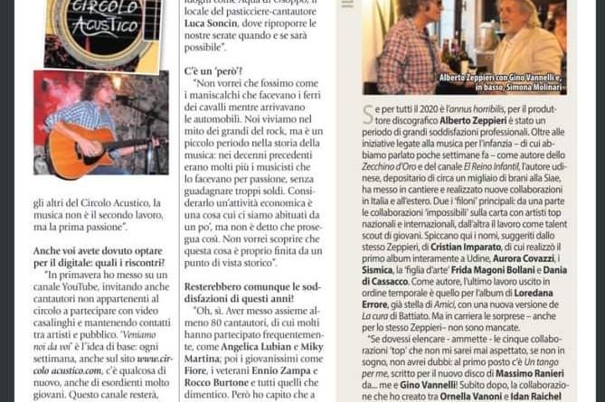 11 dicembre 2020 - IL FRIULI - Intervista di Andrea Ioime (parte 2)